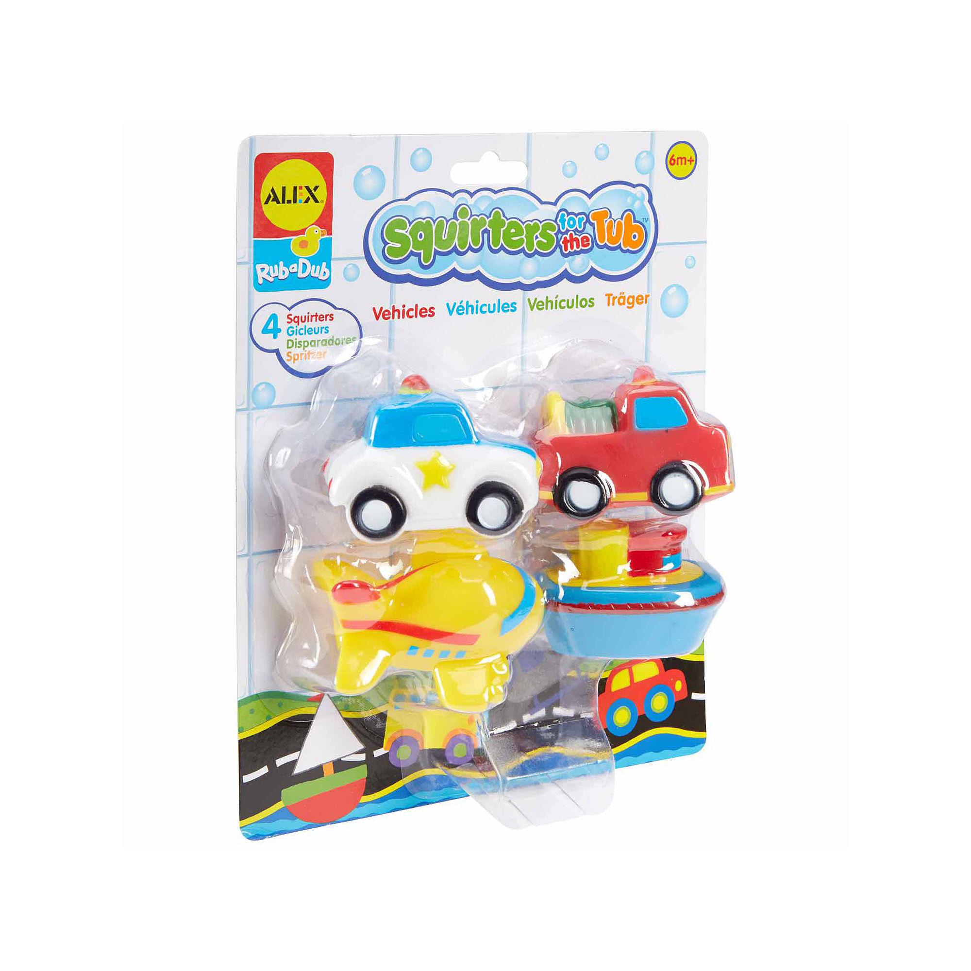 Alex RUB A DUB BATH SQUIRTERS Dino//Farm//Sport//Vehicles Baby//Child Tub Toy BN