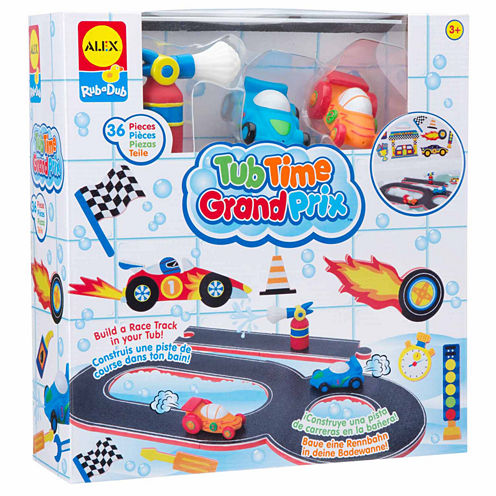 Alex Toys Rub A Dub Tub Time Grand Prix 36-pc. Toy Playset