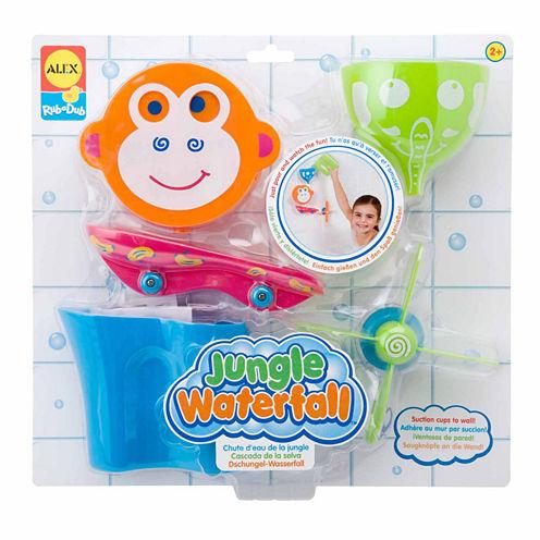 Alex Toys Rub A Dub Jungle Waterfall 5-pc. Toy Playset