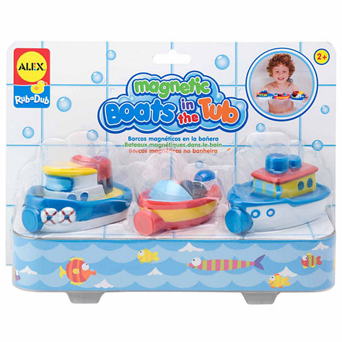 Alex Toys Rub A Dub Magnetic Boats In The Tub 3-pc. Toy Playset