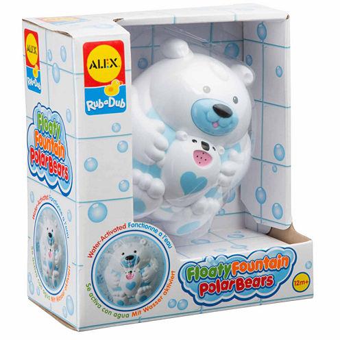 Alex Toys Rub A Dub Floaty Fountain Polar Bears Toy Playset