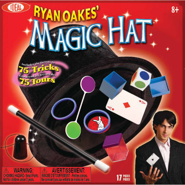 jcpenney.com | Ideal Ryan Oakes 75 Trick Magic Hat Set 15-pc. Dress Up Accessory