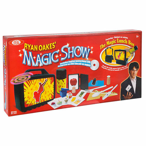 Ideal Ryan Oakes 101 Trick Magic Show Lunch Set & Dvd 13-pc. Dress Up Accessory