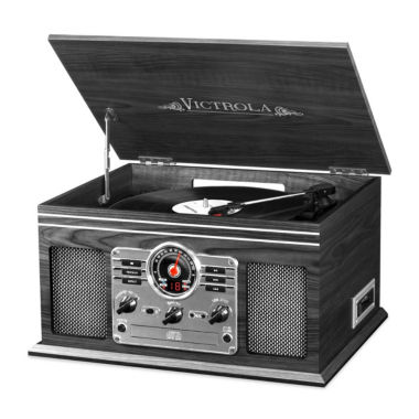 jcpenney.com | Victrola VTA-200B Wooden 6-In-1 Nostalgic Classic Turntable with Bluetooth