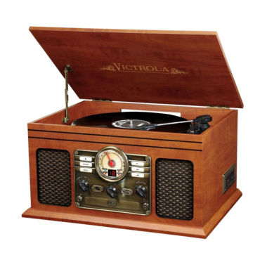jcpenney.com | Victrola VTA-600B Wooden 7-in-1 Nostalgic Record Player with Bluetooth and USB Encoding