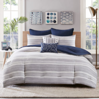 jcpenney.com | Miller Stripe 3-pc. Comforter Set & Accessories