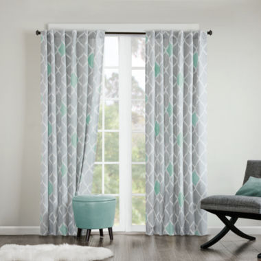 jcpenney.com | Nile Diamond Geometric Grommet-Top Curtain Panel