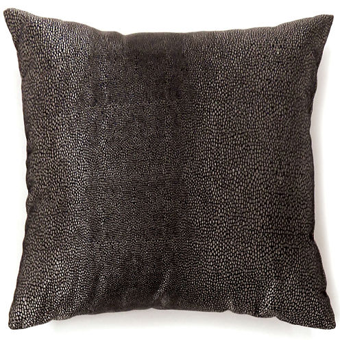 Knox Large Black Decorative Square Throw Pillow