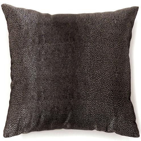 Knox Small Black Decorative Square Throw Pillow