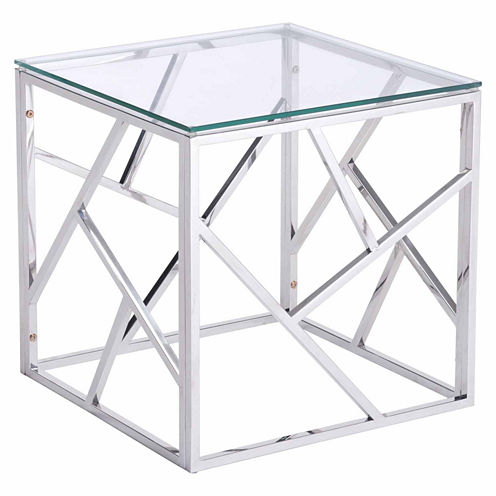 Zuo Modern Cage Stainless Steel End Table