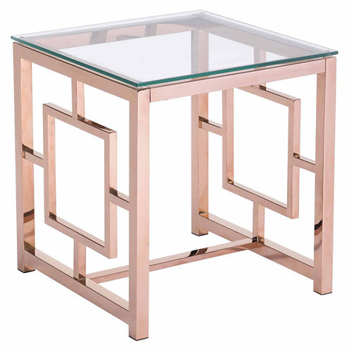 Zuo Modern Geranium Rose Gold End Table
