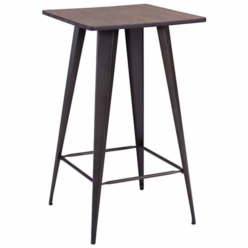 Zuo Modern Titus Elm Wood Top Pub Table