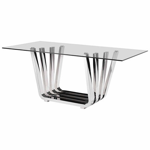 Zuo Modern Fan Rectangular Dining Table