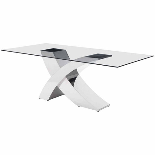 Zuo Modern Wave Rectangular Dining Table
