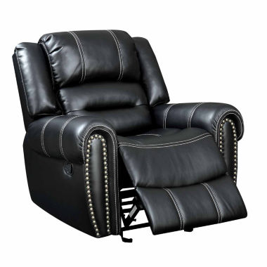 jcpenney.com | Bismarck Contemporary Faux Leather Pad-Arm Chair