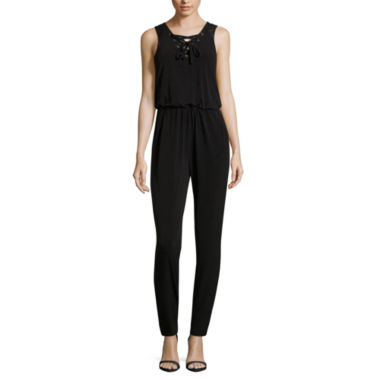 jcpenney.com | Nicole By Nicole Miller Lace Up Jumpsuit