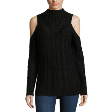 jcpenney.com | Nicole By Nicole Miller Cold Shoulder Cowl Neck Sweater