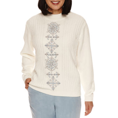 jcpenney.com | Alfred Dunner Northern Lights Long Sleeve Crew Neck Pullover Sweater
