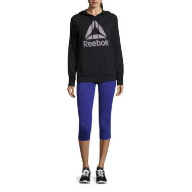 jcpenney.com | Reebok® Logo Hoodie or Reversible To Black Capris