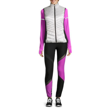 jcpenney.com | Xersion™  Long Sleeve Crew Neck T-Shirt, Puffer Vest, or Jersey Workout Pants
