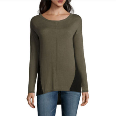 jcpenney.com | a.n.a® Long-Sleeve Colorblock Tunic