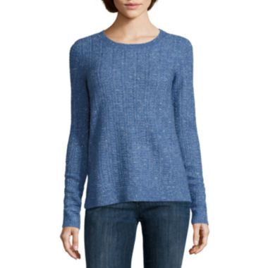 jcpenney.com | Liz Claiborne® Long-Sleeve Crewneck Sweater with Lurex