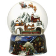 Musical Rotating Glitterdome Snow Globe