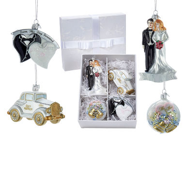 jcpenney.com | Kurt Adler Noble Gems Wedding Ornament- Set of 4