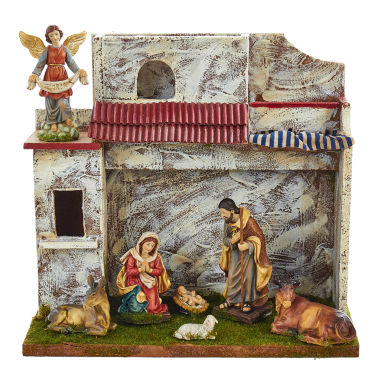 "jcpenney.com | Kurt Adler 5"" Musical Nativity Set with 7 Figures and Stable"