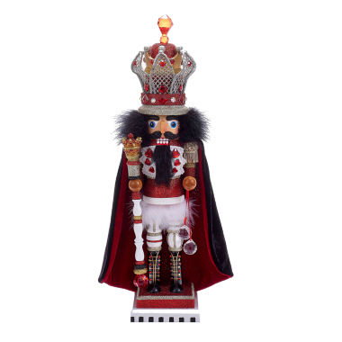 "jcpenney.com | Kurt Adler 18"" Hollywood King Nutcracker with Wire Crown"