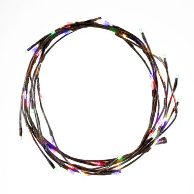 jcpenney.com | Kurt Adler 6 Ft. LED Multi-Colored Twinkle Brown Garland