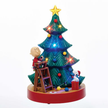 "jcpenney.com | Kurt Adler 10.5"" Animated Musical Peanuts Tree Tablepiece"