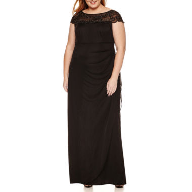 jcpenney.com | Msk Cap Sleeve Beaded Evening Gown-Plus