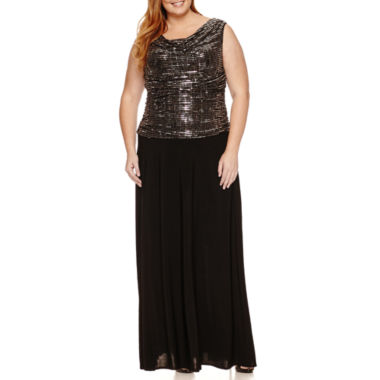 jcpenney.com | R & M Richards Sleeveless Sequin Evening Gown-Plus