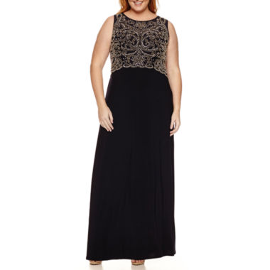 jcpenney.com | Jackie Jon Sleeveless Beaded Evening Gown-Plus