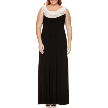 jcpenney.com | Jackie Jon Sleeveless Beaded Cowl Neck Evening Gown-Plus