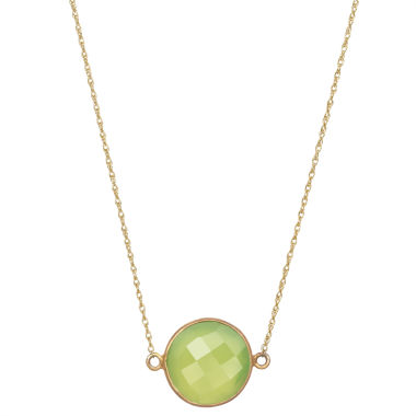 jcpenney.com | Womens Green Quartz Gold Over Silver Link Necklace