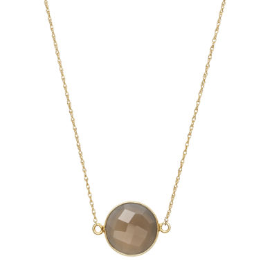 jcpenney.com | Womens Brown Quartz Gold Over Silver Link Necklace