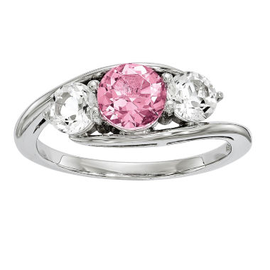 jcpenney.com | Survivor Collection Genuine Clear & Pink Swarovski Topaz Sterling Silver Sue Ring