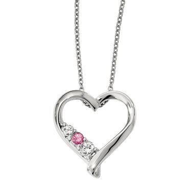 jcpenney.com | Survivor Collection Genuine Clear & Pink Swarovski Topaz Sterling Silver Jessica Necklace