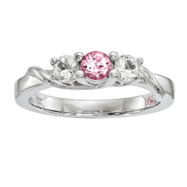 jcpenney.com | Survivor Collection Genuine Clear & Pink Swarovski Topaz Sterling Silver Joanna Ring