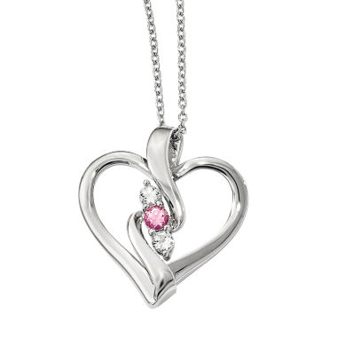 jcpenney.com | Survivor Collection Genuine Clear & Pink Swarovski Topaz Sterling Silver Ruth Necklace