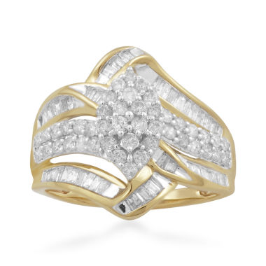jcpenney.com | Womens 1 CT. T.W. White Diamond 10K Gold Cocktail Ring