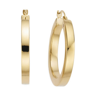 jcpenney.com | Gold Opulence™ 14K Yellow Gold Diamond-Accent Square Hoop Earrings