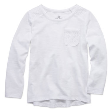 jcpenney.com | Okie Dokie Girls Long Sleeve T-Shirt-Toddler