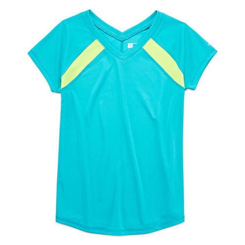 Xersion Performance Short Sleeve Solid Training Top - Girls 7-16 and Plus