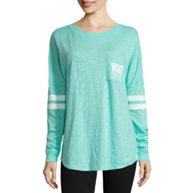 jcpenney.com | Flirtitude Long Sleeve T-Shirt-Juniors