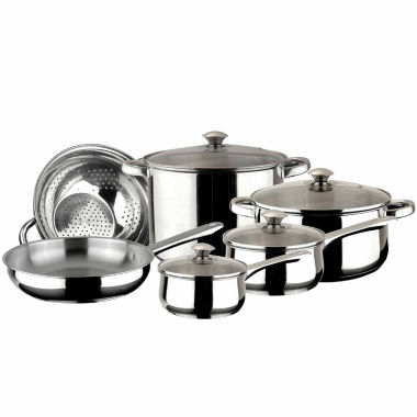 jcpenney.com | 10-pc. Stainless Steel Dishwasher Safe Cookware Set