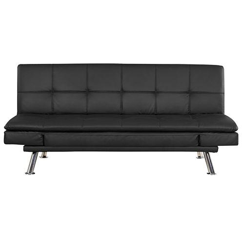 Serta Niles Faux-Leather Sleeper Sofa