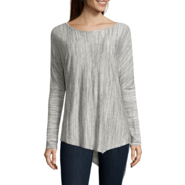 jcpenney.com | Belle + Sky Asymmetric Solid Knit Top